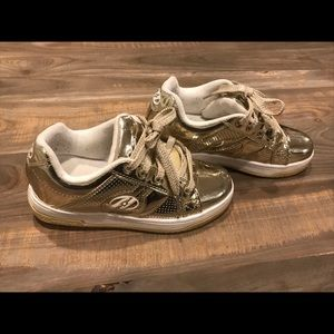 Gold Heelys. Gold split